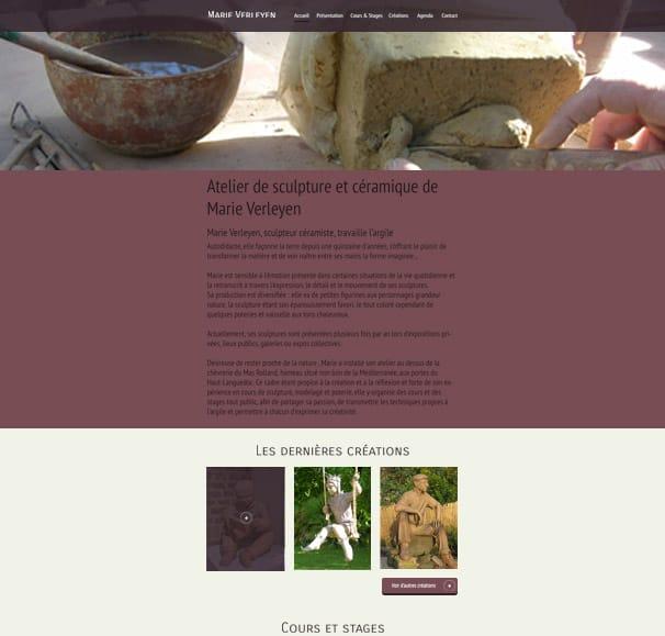 site internet wordpress marie verleyen