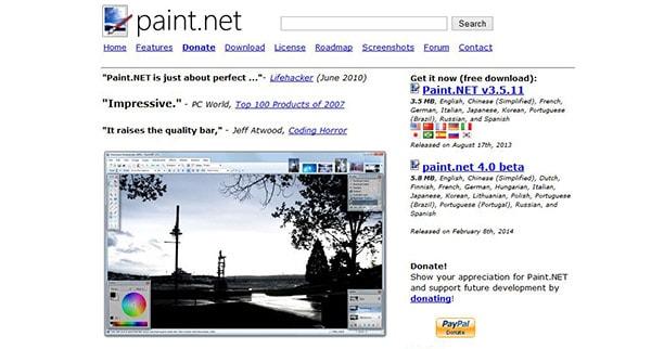 Paint.net, alternative gratuite à photoshop