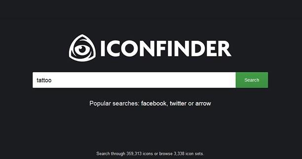 moteur de recherche d'icons